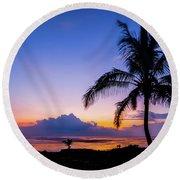 Hawaiian Dawn Colors Round Beach Towel