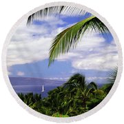 Hawaiian Fantasy Round Beach Towel
