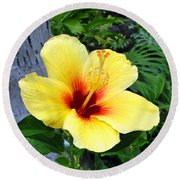 Hawaiian Hibiscus Round Beach Towel