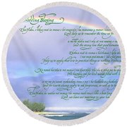 Hawaiian Language Wedding Blessing Round Beach Towel