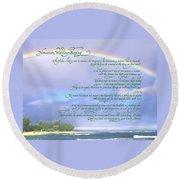Hawaiian Language Wedding Blessing Round Beach Towel