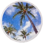 Hawaiian Vacation #4 Round Beach Towel