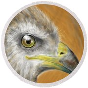 Hawk Round Beach Towel