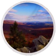Round Beach Towel featuring the photograph Hawk Mountain Pennsylvania by David Dehner