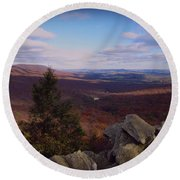Hawk Mountain Sanctuary Round Beach Towel