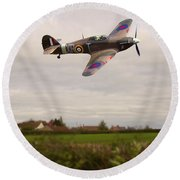 Round Beach Towel featuring the photograph Hawker Hurricane -1 by Paul Gulliver