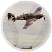 Round Beach Towel featuring the photograph Hawker Hurricane -2 by Paul Gulliver