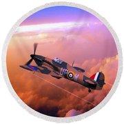 Hawker Hurricane British Fighter Round Beach Towel