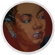 Hazel Scott Round Beach Towel