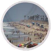 Hazy Lazy Days Of Summer Round Beach Towel
