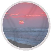 Hazy Sunrise I I Round Beach Towel by  Newwwman