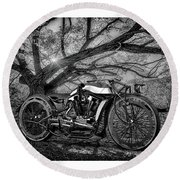 Hd Cafe Racer  Round Beach Towel