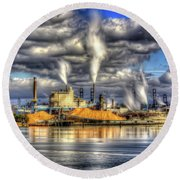 Hdr - Westrock Plant Tacoma, Wa Round Beach Towel