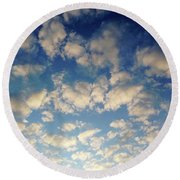 Head In The Clouds- Art By Linda Woods Round Beach Towel