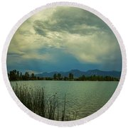 Round Beach Towel featuring the photograph Head In The Clouds by James BO Insogna