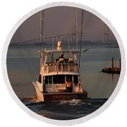 Round Beach Towel featuring the photograph Headin' South by Laura Ragland