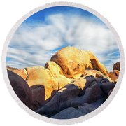 Heading To Arch Rock Round Beach Towel