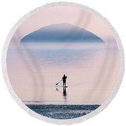 Heading To Blue Island Round Beach Towel by Jaroslaw Blaminsky