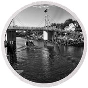 Heading To Sea - Perkins Cove - Maine Round Beach Towel