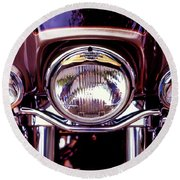 Round Beach Towel featuring the photograph Headlights by Samuel M Purvis III