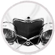 Round Beach Towel featuring the photograph Headlights by Stephen Mitchell