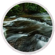 Headwaters Of Williams River  Round Beach Towel