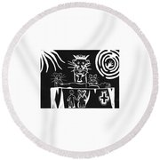 Healers Round Beach Towel