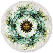 Round Beach Towel featuring the digital art Healing Energy by Anastasiya Malakhova