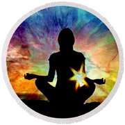 Healing Energy Round Beach Towel
