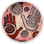 Healing Hands Round Beach Towel