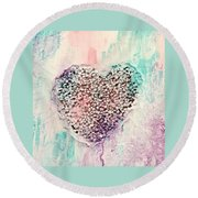 Healing Heart-2 Round Beach Towel