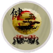 Round Beach Towel featuring the photograph Health Oriental Symbol by Robert G Kernodle