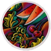 Healthy Fruit Round Beach Towel