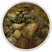 Heap Of Rocks Round Beach Towel