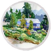 Hearse House Garden Round Beach Towel