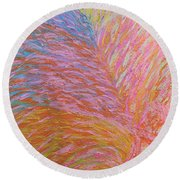 Heart Burst Round Beach Towel