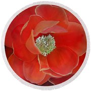 Heart-centered Rose Round Beach Towel