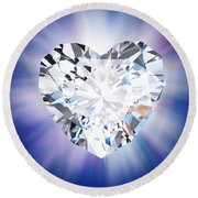 Heart Diamond Round Beach Towel