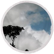 Heart In The Clouds Round Beach Towel