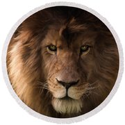 Heart Of A Lion - Wildlife Art Round Beach Towel