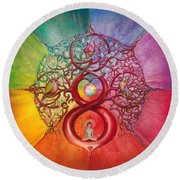 Heart Of Infinity Round Beach Towel
