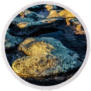 Heart Of Stone Round Beach Towel by Lana Enderle