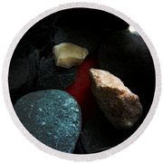 Heart Of Stone Round Beach Towel by RC DeWinter