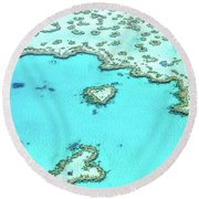 Heart Of The Reef Round Beach Towel by Az Jackson