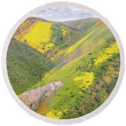 Round Beach Towel featuring the photograph Heart Of The Temblor Range by Marc Crumpler