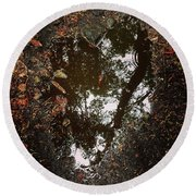 Heart Of The Wood Round Beach Towel