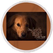 Round Beach Towel featuring the digital art Heart Of Your Home  by Kathy Tarochione