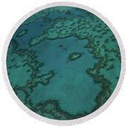 Heart Reef Round Beach Towel