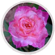 Sedona Heart Rose Round Beach Towel