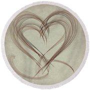 Heartful Round Beach Towel